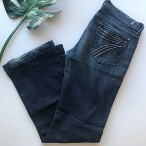 7 for All Mankind Dojo Wide Leg Jeans Size 32